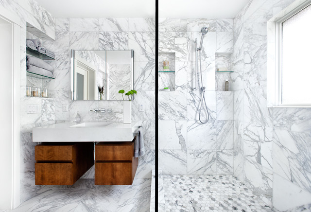 white marble bathroom floors. 5  Handcrafted Unique Tiles The Latest Bathroom Tile Trends for 2017 Portland Direct